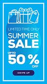 Social Media Stories Page Sale Banner Background - SUMMER SALE