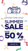 Social Media Stories Page Sale Banner Background - SUMMER SALE