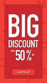 Social Media Stories Page Sale Banner Background-BIG DISCOUNT