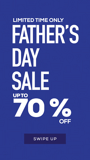 Social Media Stories Page Sale Banner Background-Father's Day Sale