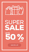 Social Media Stories Page Sale Banner Background-SUPER SALE