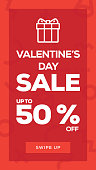Social Media Stories Page Sale Banner Background-VALENTINE'S DAY SALE