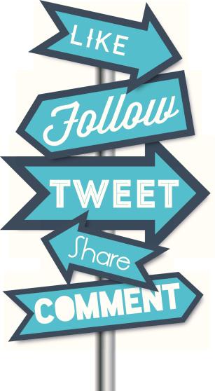 Social media terms signpost vector illustrations