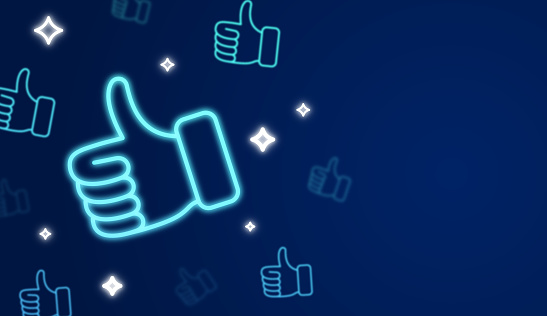 Social Media Thumbs Up Like Background