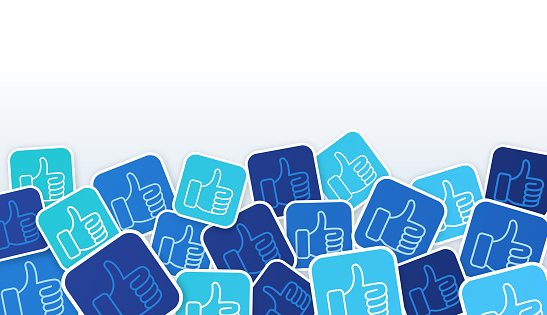 Social Media Thumbs Up Likes Background