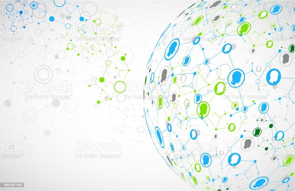 Social media vector background. vector art illustration
