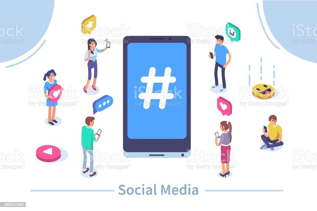 Medios sociales - ilustración de arte vectorial
