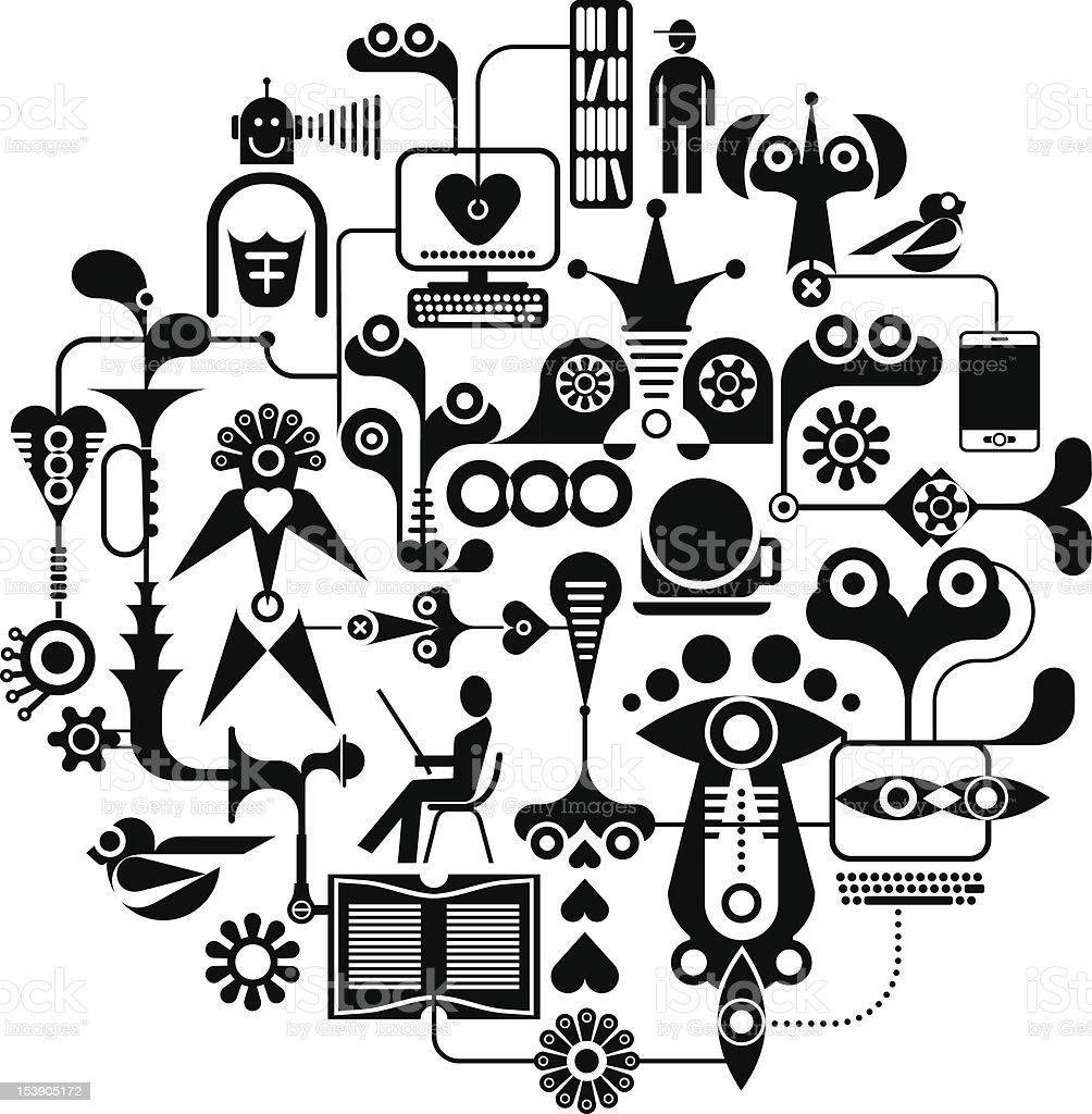 Social Media - vector illustration royalty-free stock vector art