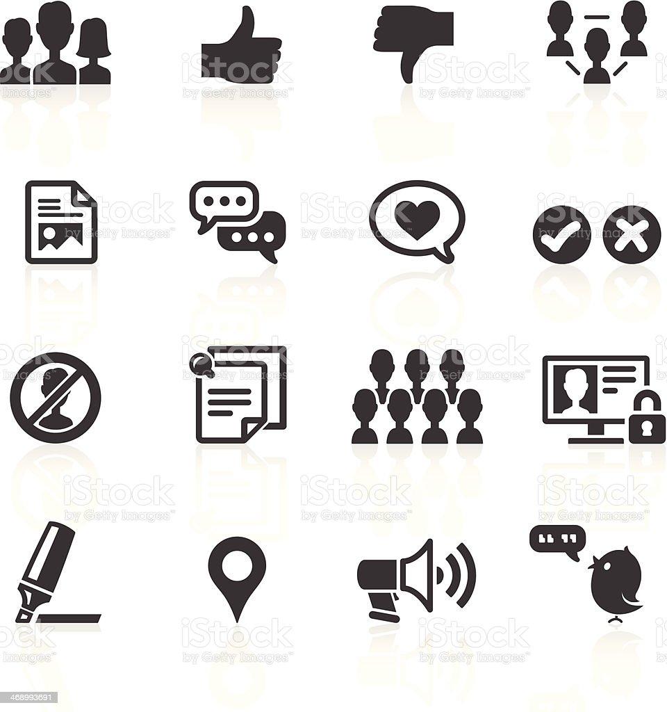 Social Media & Web Icons vector art illustration