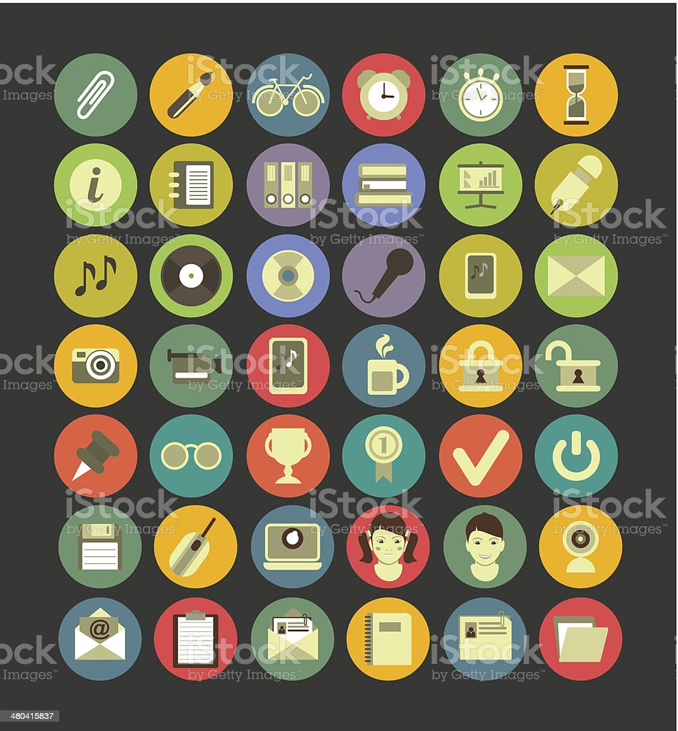 Social media web icons vector art illustration