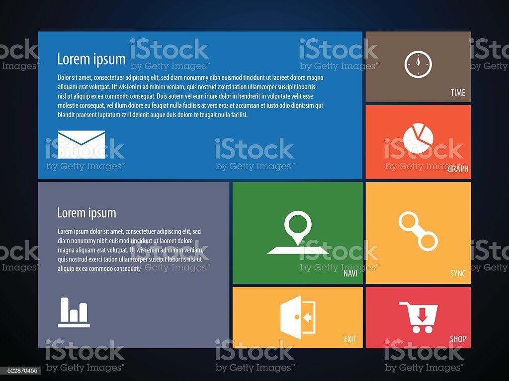 Social Media Website Template Stock Vector Art 522870455 Istock