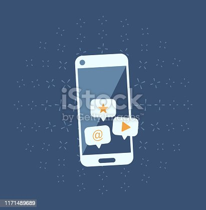 istock Social network and mobile device concept 1171489689