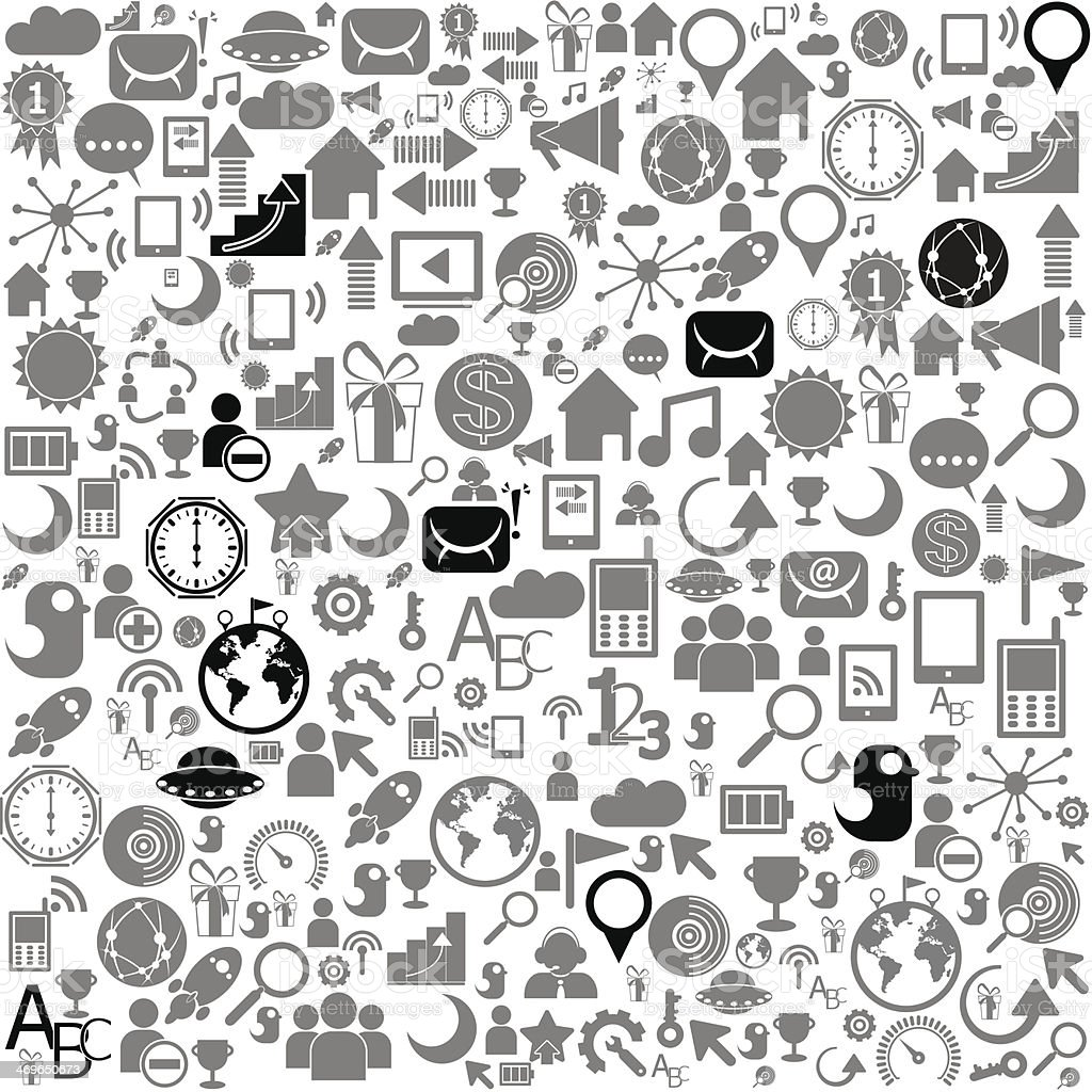 Social Network Background With Media Icons Stock Vector Art More