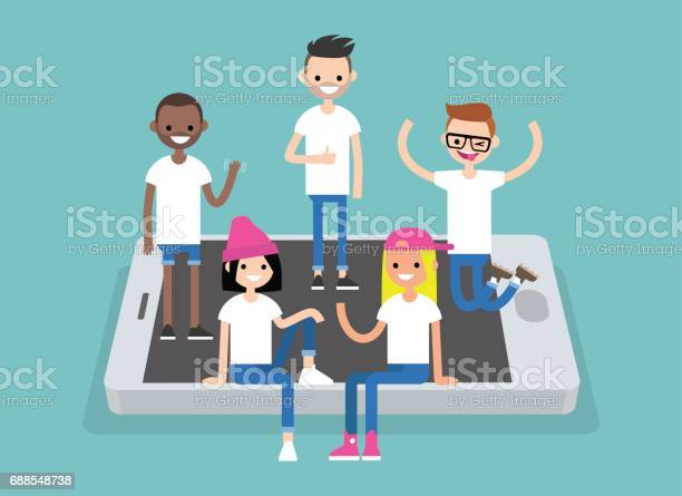 Social network concept a multinational group of young people hanging vector id688548738?b=1&k=6&m=688548738&s=612x612&h=fssdfyzsa3upyex9oqmcmlnfxeo4rlks4z3u72bsxdw=