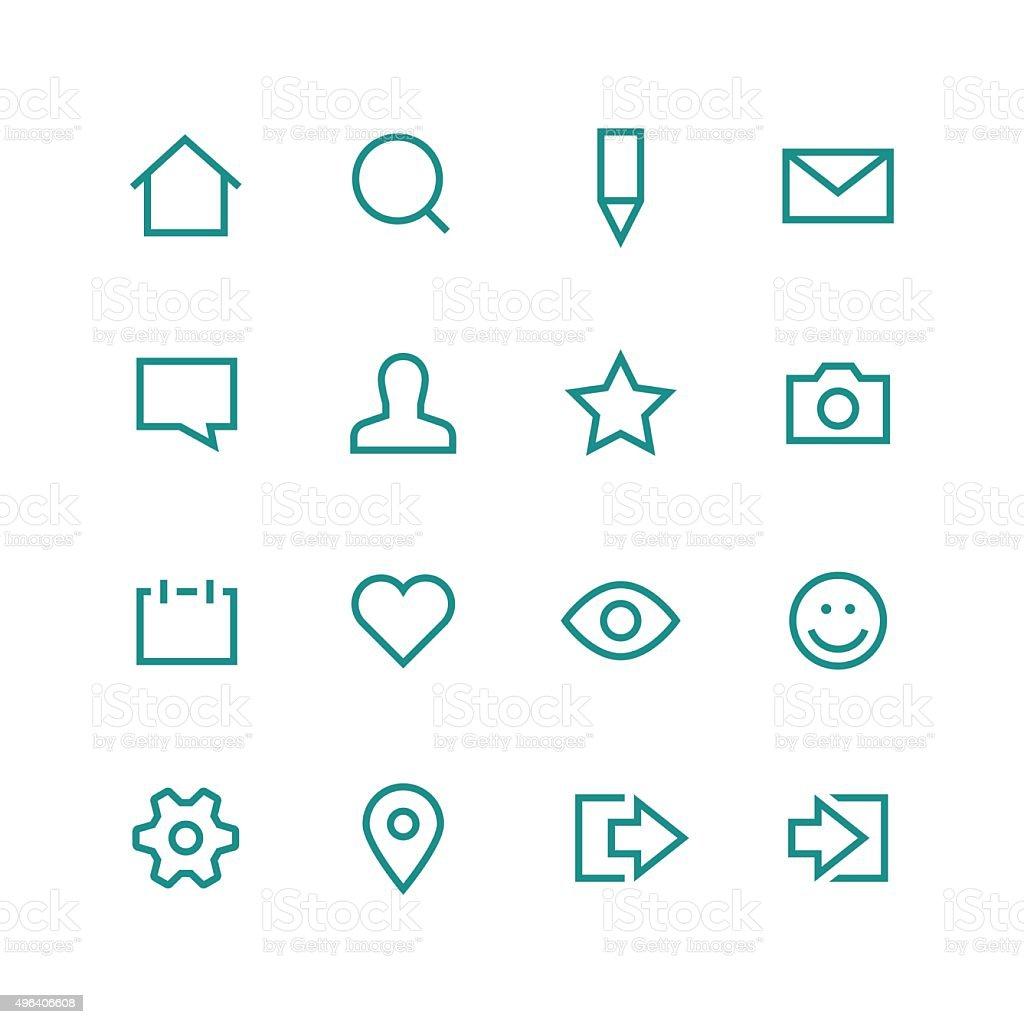 Social network icon set vector art illustration