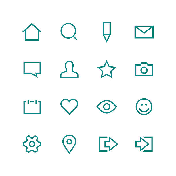 ilustraciones, imágenes clip art, dibujos animados e iconos de stock de icono de red social conjunto - zoom call