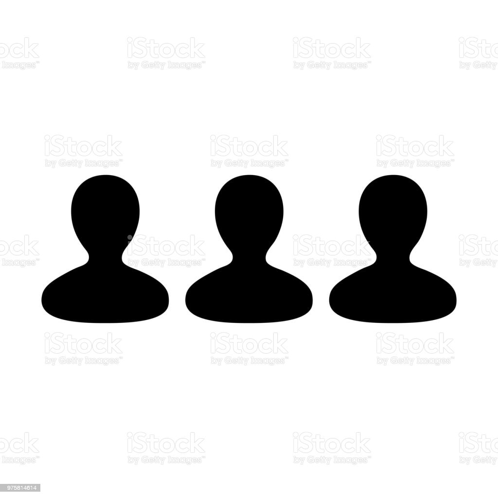 Soziales Netzwerk Symbol Vektor männlichen Gruppe von Personen Avatar für Business-Management-Team in flache Farbe Glyphe Piktogramm symbol - Lizenzfrei Anwalt Vektorgrafik