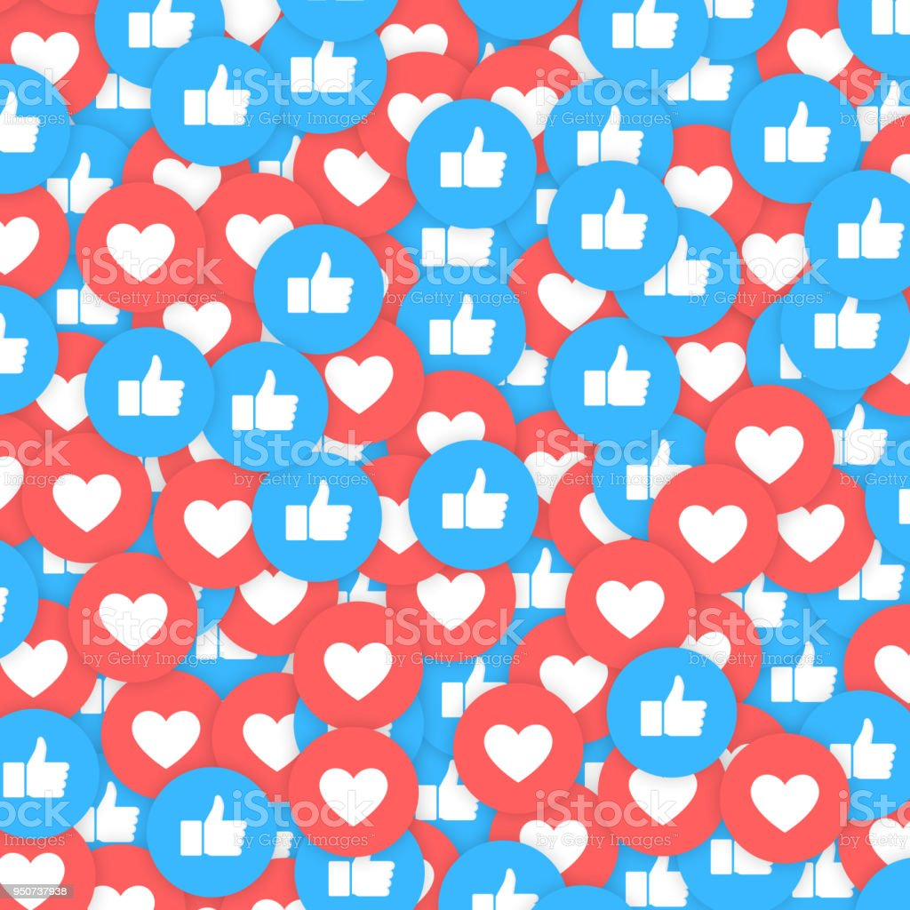 Social Network icons abstract Get More Likes. Background for Web, Internet, App, Advertisement, Promotion, Marketing, SMM, CEO, Business 3D Vector illustration.
