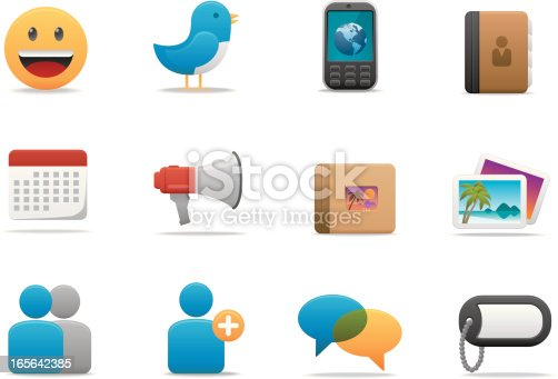 Matte & soft lookin' icon set for your web page, interactive, presentation, print, and all sorts of design need.