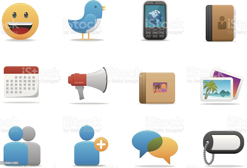 Social Network icons | Premium Matte series vector art illustration