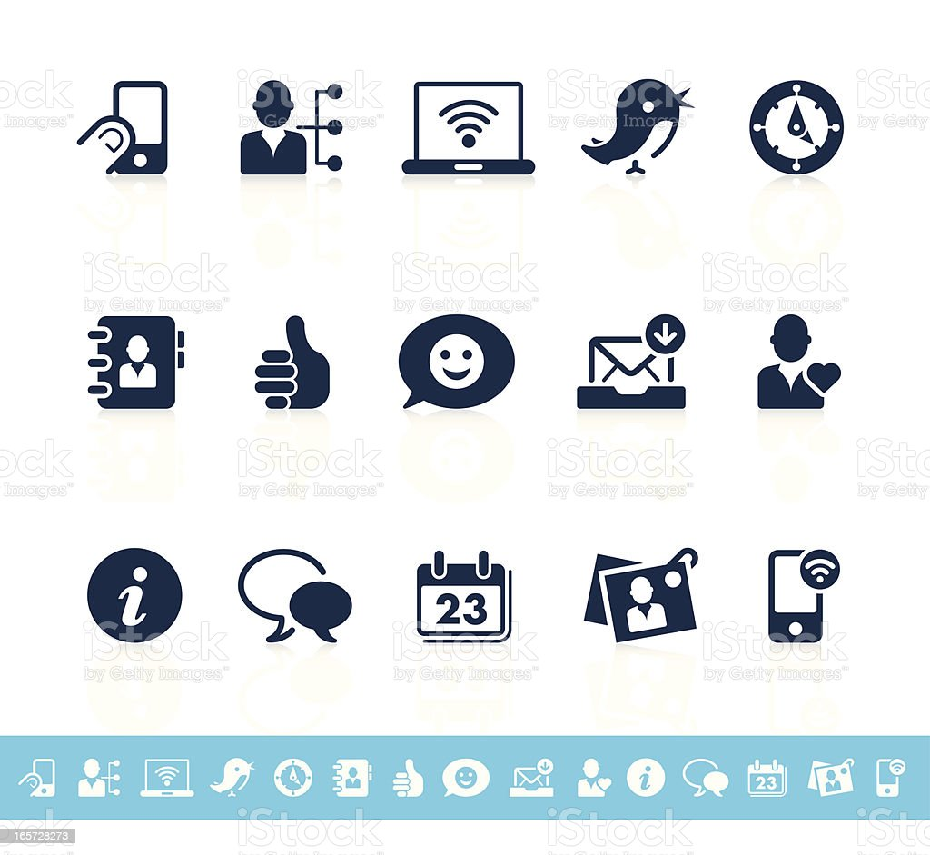 Social network icons | Sanoma series royalty-free stock vector art