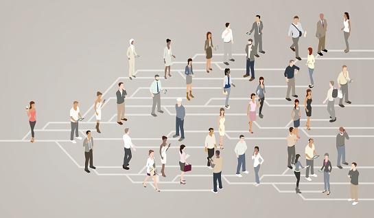Social Network Illustration Stock Illustration - Download Image Now