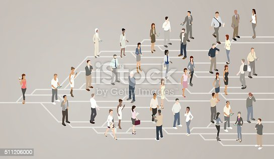 Social Network Illustration Stock Vector Art & More Images of Blogging 511206000