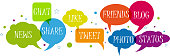 Social network in speech balloons