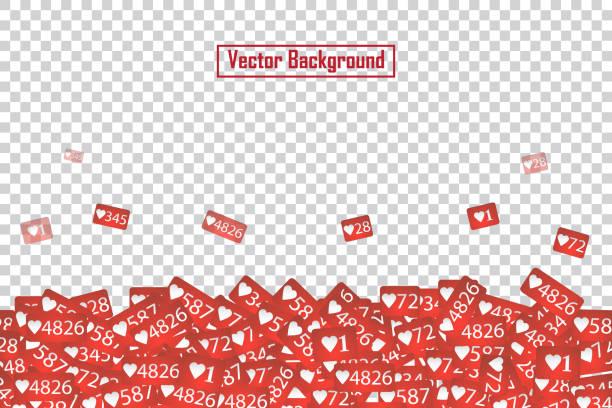 social network like counter ikony abstrakcyjna ilustracja izolowana na przezroczystym tle. - instagram stock illustrations