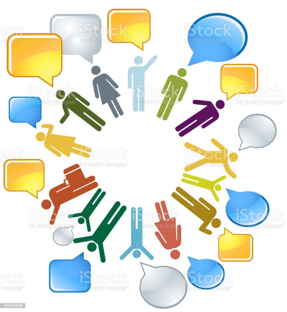 Soziales Netzwerk Menschen Auf Der Ganzen Welt Verbindet Stock ...