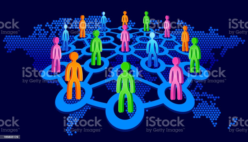 Social Network People vector art illustration