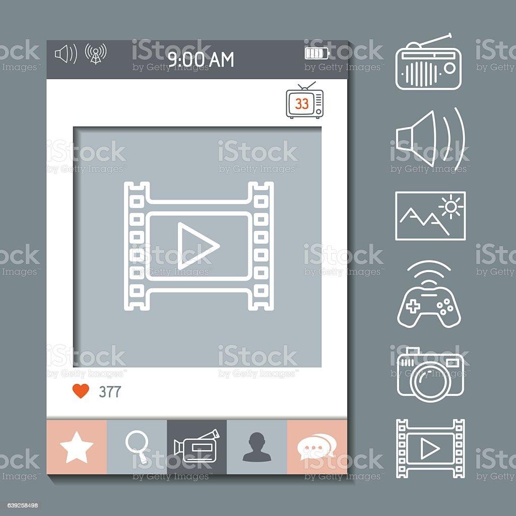 Social Network Photo Frame Template Stock Vector Art & More