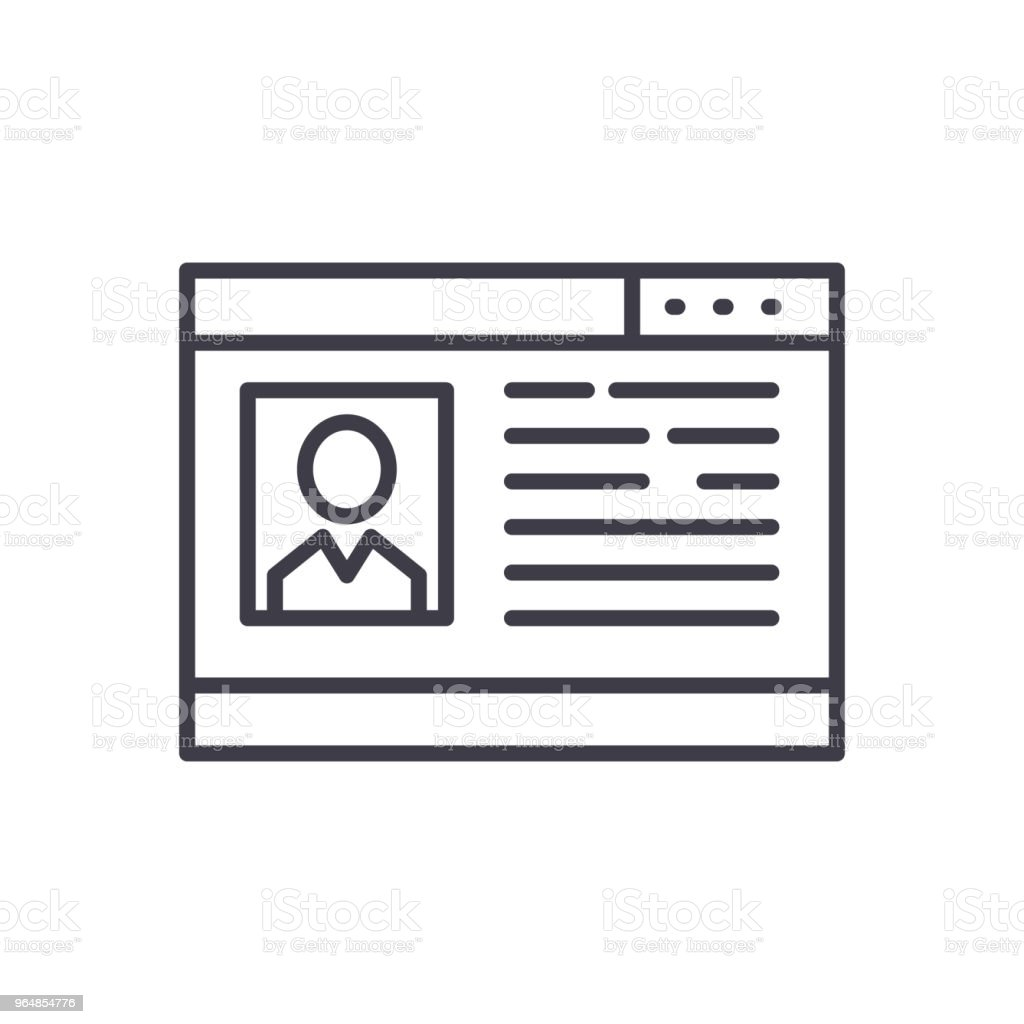 Social network profile black icon concept. Social network profile flat  vector symbol, sign, illustration. royalty-free social network profile black icon concept social network profile flat vector symbol sign illustration stock vector art & more images of abstract