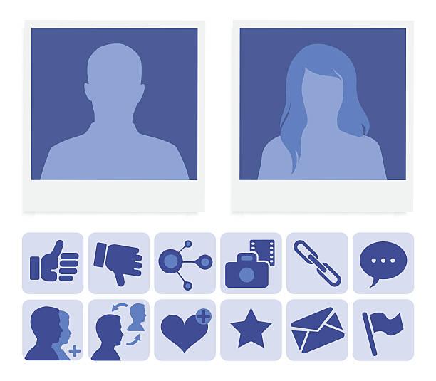 bildbanksillustrationer, clip art samt tecknat material och ikoner med social network profile - profile photo