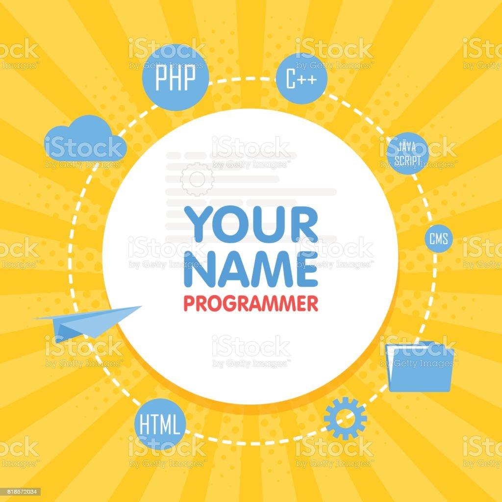Soziales Netzwerk Programmierer Avatar Legen Sie Nach Ihrem Namen ...