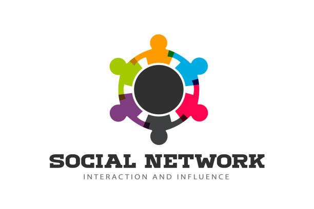 ilustrações de stock, clip art, desenhos animados e ícones de social network round table logo vector - future hug