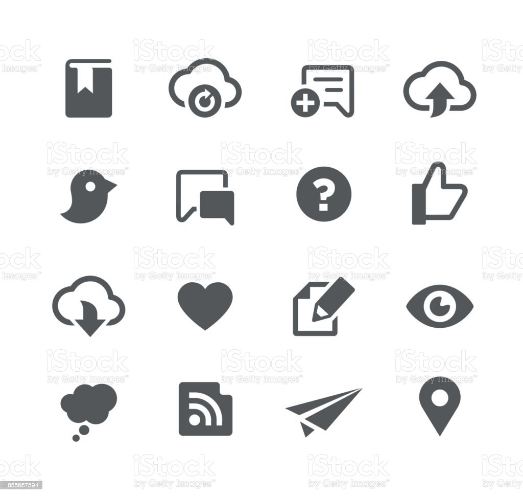 Social Network & Sharing icons vector art illustration