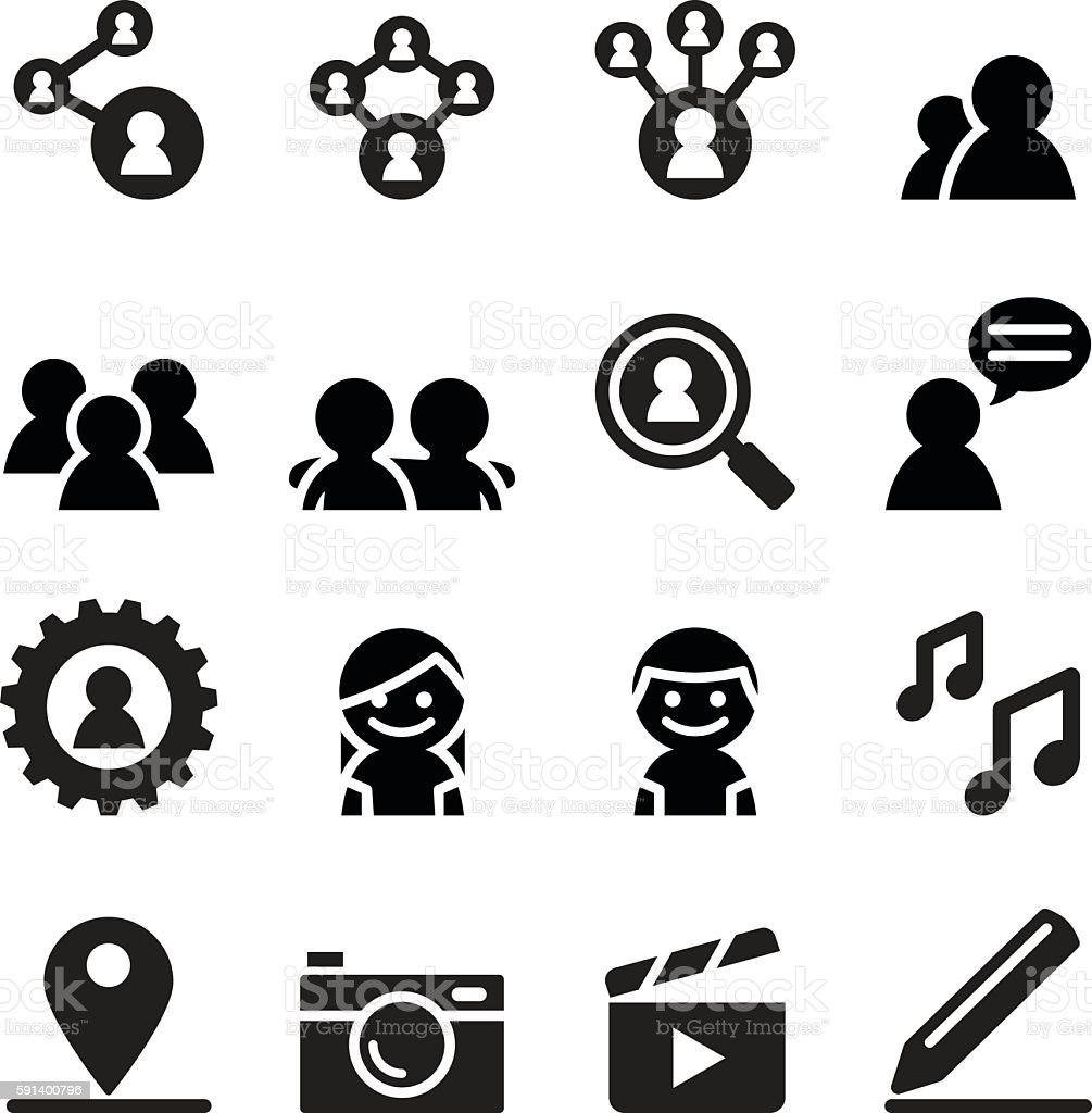 Social network , Social media icon set vector art illustration