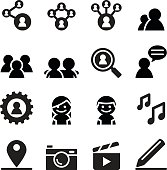 Social network , Social media icon set
