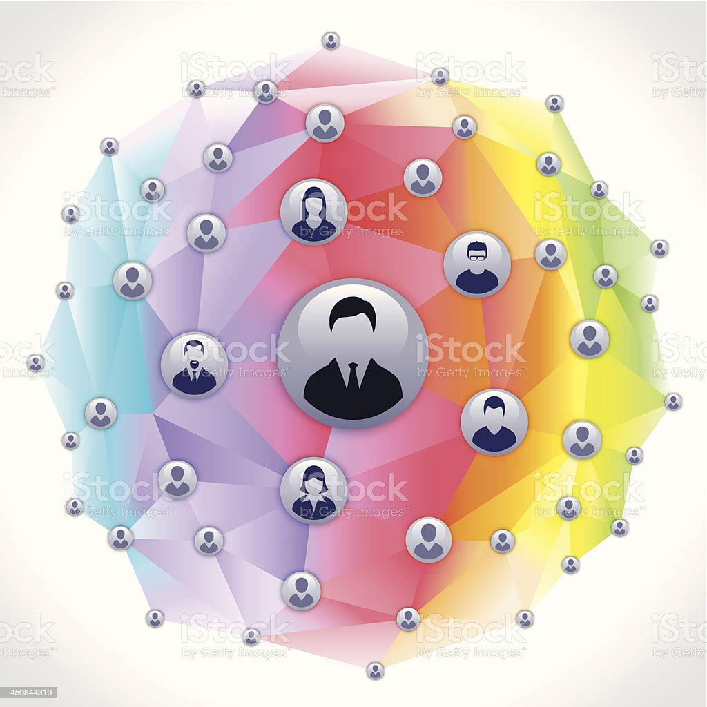 Social Network Sphere - concept royalty-free stock vector art