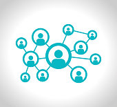 istock Social Network stock Illustration. Connection, Computer Network, Social Media or Communication vector icon 1269668624