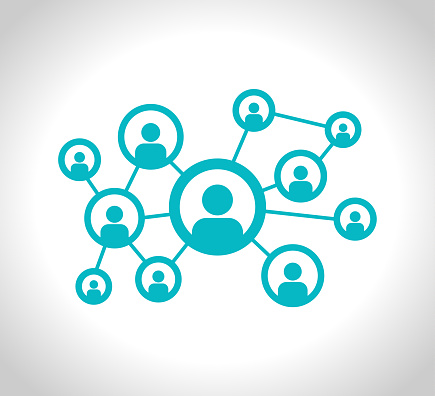 Social Network stock Illustration. Connection, Computer Network, Social Media or Communication vector icon