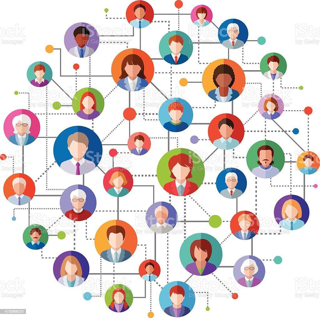 Réseau Social - Illustration vectorielle