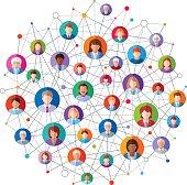 Vector illustration of  Social Network