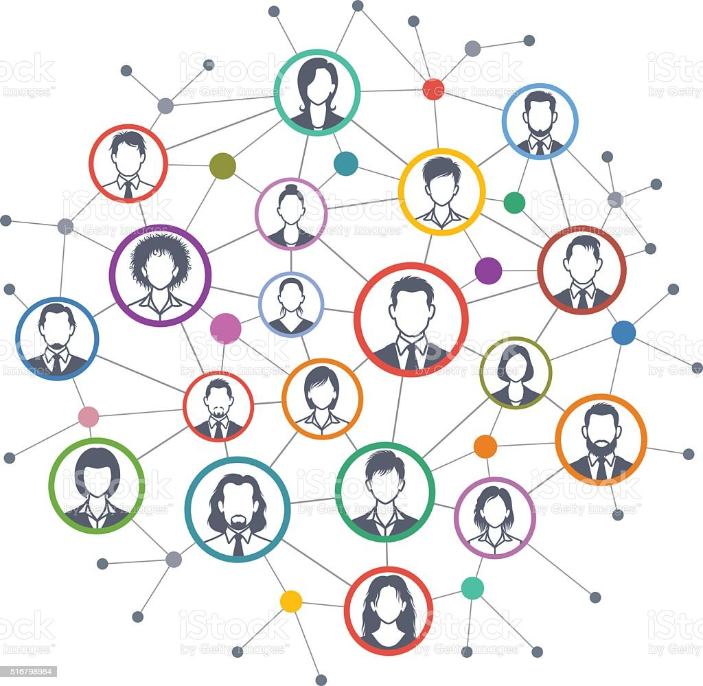 Red sociales - ilustración de arte vectorial