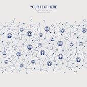 Vector illustration of a Social Network