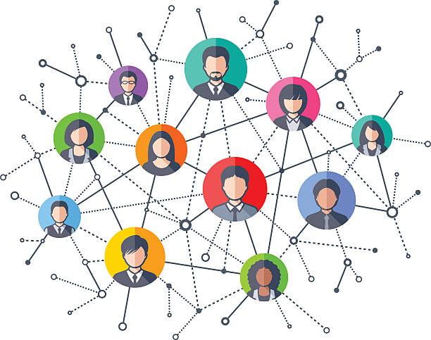 Social Network Vector illustration of  Social Network abstract clipart stock illustrations