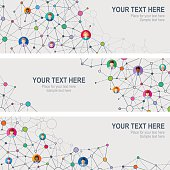 Vector banners of  Social Network with space for your text
