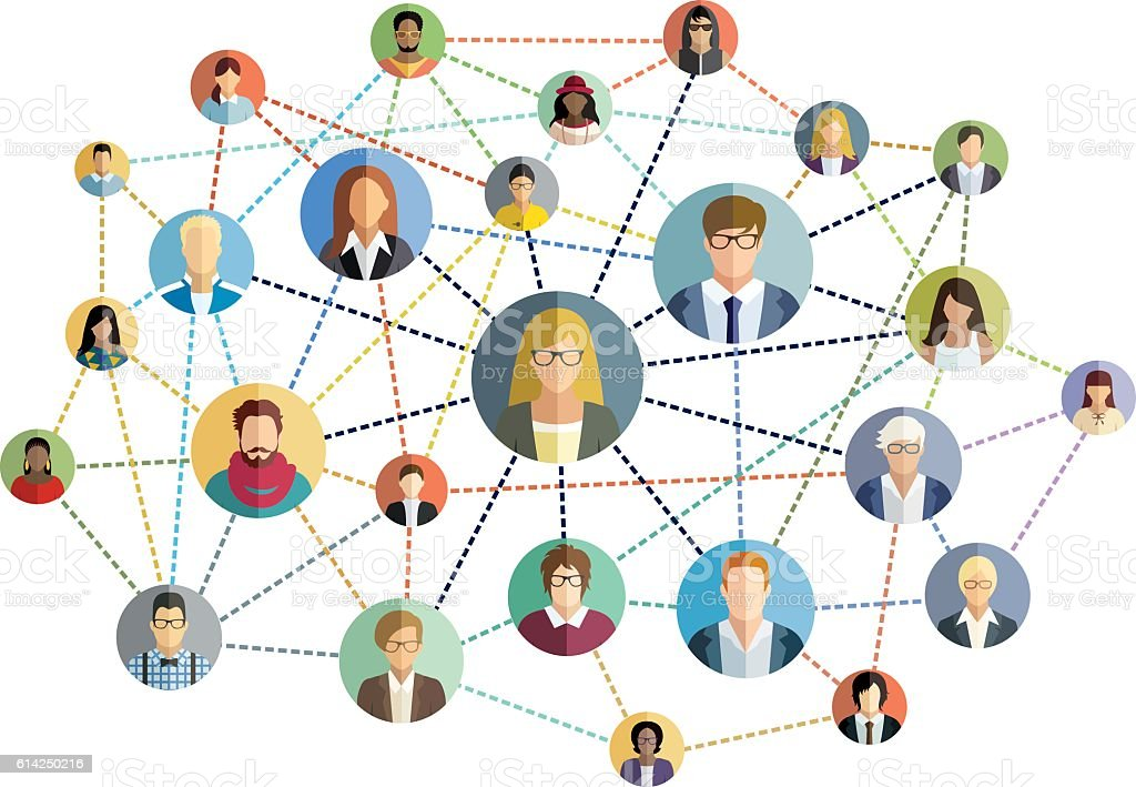 Social network - vector illustration. - Illustration vectorielle