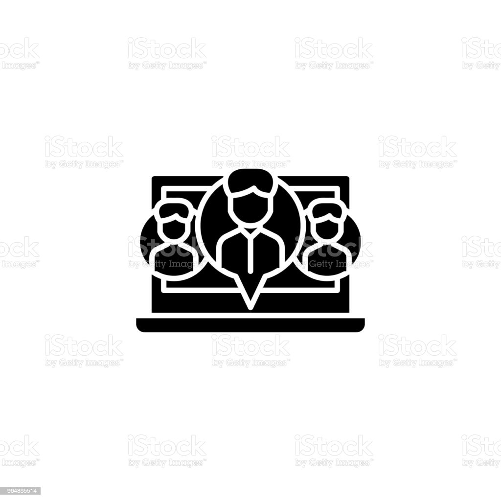Social network-35 black icon concept. Social network-35 flat  vector symbol, sign, illustration. royalty-free social network35 black icon concept social network35 flat vector symbol sign illustration stock vector art & more images of abstract